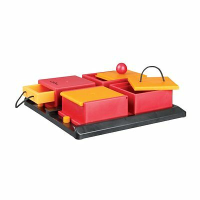 TRIXIE Dog Activity Poker Box, Red Yellow & Black