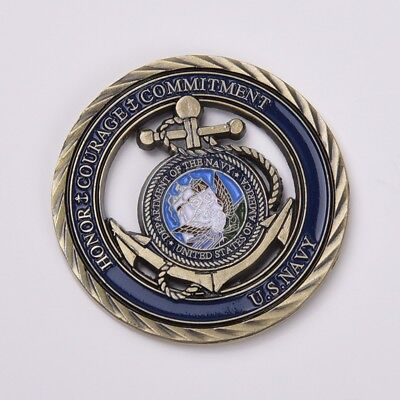 US Naval Fleet Activity Anchors Navy Military Commemorative Coins +Protect Case