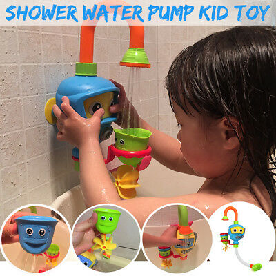 Baby Bath Shower Sprinkler Faucet Children Bathing Water Spraying Pump Toys AU