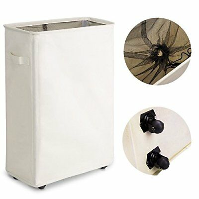 Waterproof Slim Slide Double Layered 600D Oxford Fabric Durable Laundry Hamper