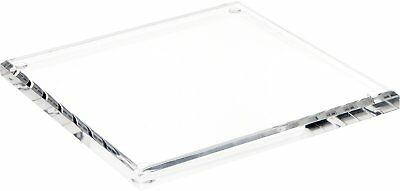 "Plymor Brand Clear Acrylic Square Beveled Display Base, .5"" H x 7"" W x 7"" D"