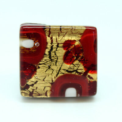 rot und Gold Murano Glas Ring aus Venice