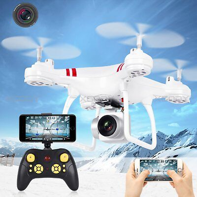 Wide Angle Lens HD Camera Quadcopter RC Drone WiFi FPV Helicopter Hover RC Drone