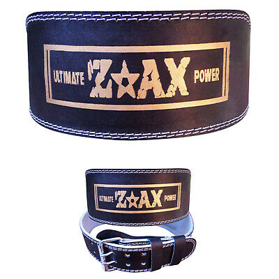 "ZstarAX 6"" WIDE Leather Weight Lifting Belt Body Building Gym Back Support"