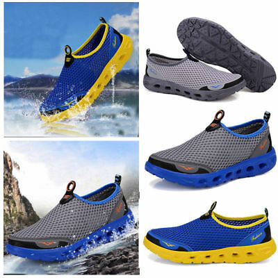 3cf1f8abe631 Men Honeycomb Mesh Quick Drying Upstream Shoes Casual Beach Shoes Sport  Sneakers