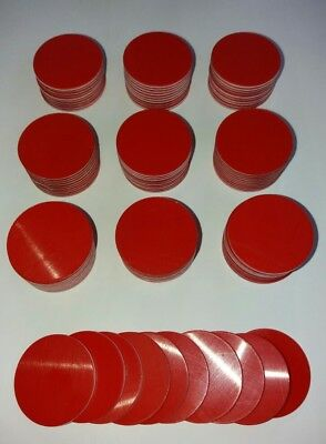 100 Ronden rot/weiß/rot  Graviermaterial