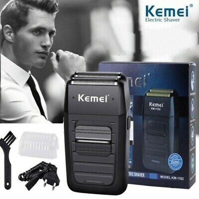 Mens Beard Electric Shaver Kemei ComfortSeries Cordless DualFoil Rechargeable Ku