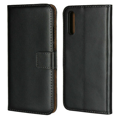 Luxury Genuine Real Leather Flip Case Wallet Cover For Huawei P20 / P20 Pro Lite