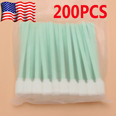 200Pcs Solvent Cleaning Swab Swabs for Large Format Roland Mimaki Mutoh Printer