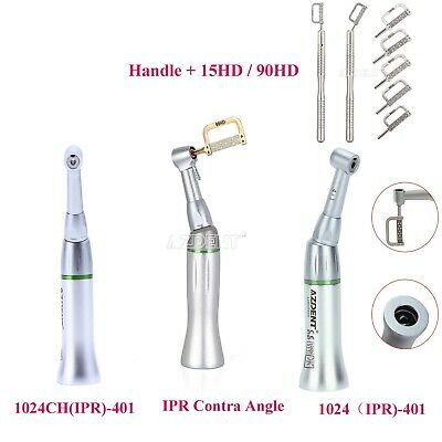 Dental Ortho Contra Angle Handpiece / IPR Interproximal Strips Set 4:1 Reduction