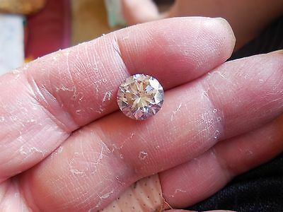 Fiery 3.71 ct Pinkish Purple Color Round Loose Moissanite VVS1 10.05 mm
