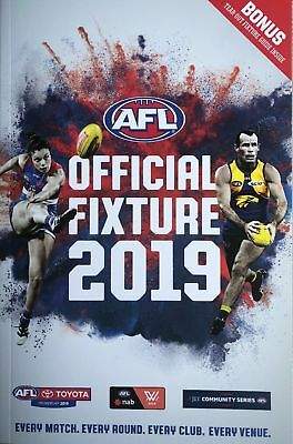 2019 AFL Official Fixture Guide Bonus tear out fixture guide
