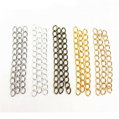 100pcs 3x50mm Extended Extension Chains Tail Extender Jewelry Bracelet Making AU