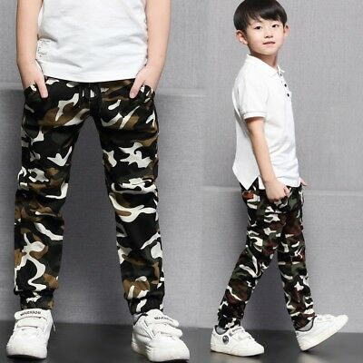 5-9Y Children Boys Camouflage Trousers Long Pants Clothing Kids Boy Casual Panty