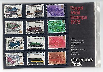 GB 1975 Royal Mail stamps Collectors pack. Year. VGC. Free postage!!
