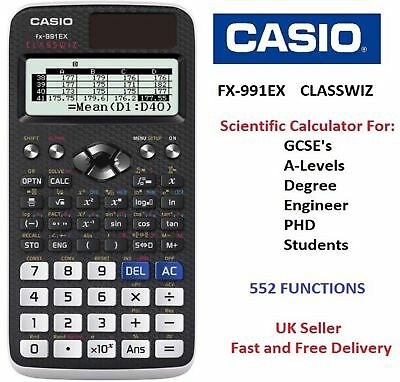 CASIO FX-991EX  ClassWiz features Advanced Scientific Calculator 552 FUNCTIONS