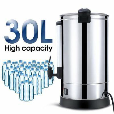 Stainless Steel 30L Tea Urn Electric Catering Hot Water Boiler Coffee Bar Shop