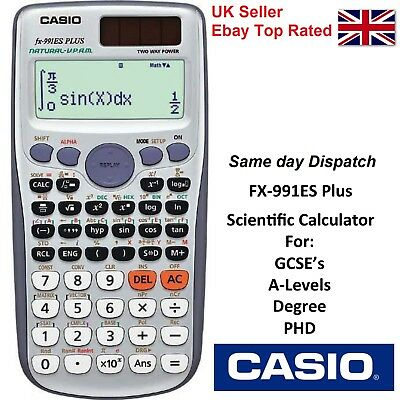 CASIO FX-991ES PLUS ADVANCED SCIENTIFIC CALCULATOR For GCSE's  417 Function