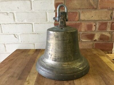 Antique Large Bronze Bell - Very heavy at 12.7kg - Chapel Bell?