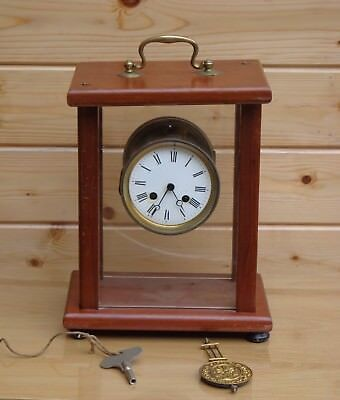 Bracket clock for spares or repair, probably Victorian, no maker's name