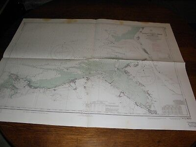 Antique Vintage US Navy Nautical Chart , GREAT ORMES HEAD TO LIVERPOOL,ENGLAND