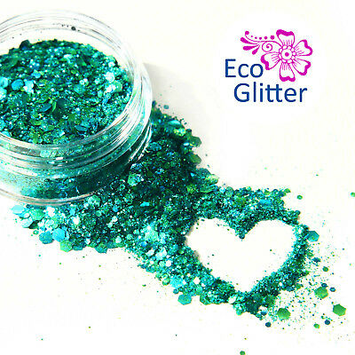 BIODEGRADABLE Cosmetic Party Glitter, Eco Sparkles, Festival Chunky Mermaid Kc