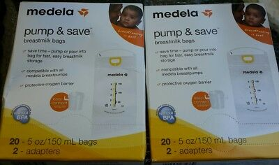 medela pump&save bags 2-20ct boxes