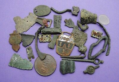 Large mixed lot of metal detector finds British found