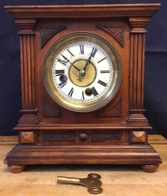 Victorian Antique Striking WURTTEMBURG 8 Day Mantle Bracket Clock