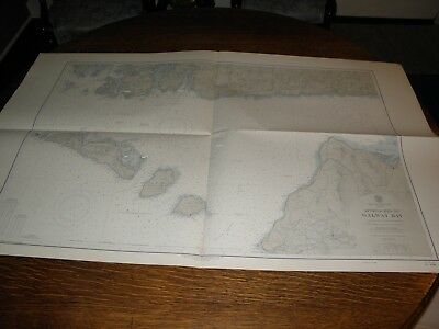 Vintage US Navy Nautical Chart ,IRELAND-WEST COAST,ERIE,APPROACHES TO GALWAY BAY