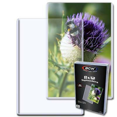 20 BCW 8 X 12 TOPLOAD PHOTO / PRINT HOLDERS 8x12 TOPLOADERS RIGID