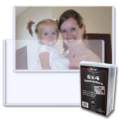 25 BCW 6 x 4 - TOPLOAD PHOTO / POSTCARD HOLDERS 6x4 TOPLOADERS SIDE LOAD
