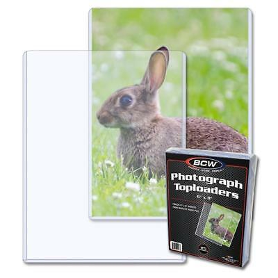 25 BCW 6 x 8 - TOPLOAD PHOTO / PRINT HOLDERS 6x8 TOPLOADERS