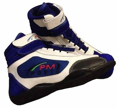Adult Blue Karting / Race/Rally/Track Boots Shoes with Synthetic Leather/Suede