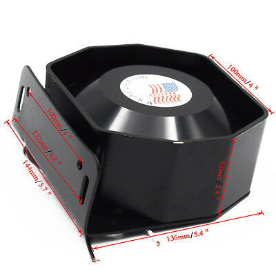 New Universal 400W 12V Compact Loud Speaker PA System Horn Emergency Warning Sir