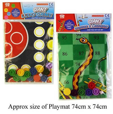 Giant Traditional Games, Snakes & Ladders Or Ludo Ages 3+ Great Family Games