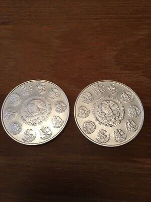 Mexican Mint Libertad 1oz silver bullion coins - two