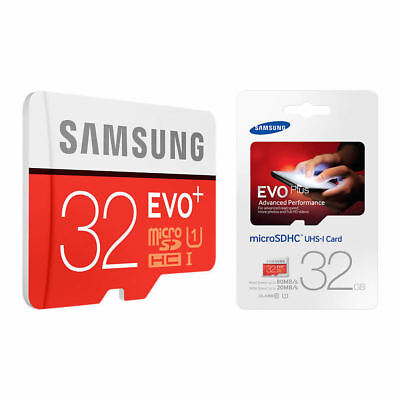 NEW Genuine Samsung 32GB EVO Plus Micro SD SDHC UHS-I  Class 10 Memory Card UK