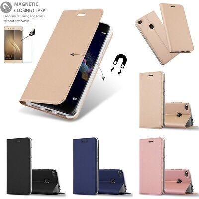 Housse Cuir Coque Portefeuille Etui Pochette Flip Bequille Case Cover Huawei