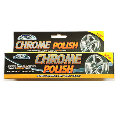 Car Pride Chrome WHEEL Metal Polish Cleaner Restorer Protector Paste Car Home