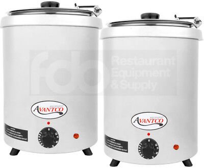 2 PACK 6 Qt Stainless Steel Soup Kettle Warmer Commercial Nacho Cheese #10 Can