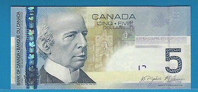 2009  Bank Of Canada $5  BC-67b  AAL4109872 Jenkins / Camey  GEM UNC