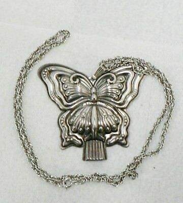 Reed & Barton Sterling Silver Butterfly Whistle Pendant