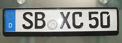 European / German License Plate Holder .tag. Holder Theft Protection New