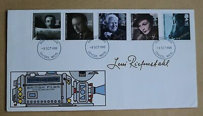 British Film Year 1985 Royal Mail Unaddressed Fdc Signed By Leni Riefenstahl