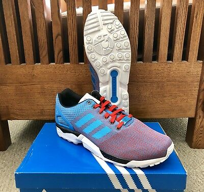"""c375e8c6c506 Adidas ZX Flux Weave """"USA"""" Running Shoes M29091  NEW  Size 10.5"""