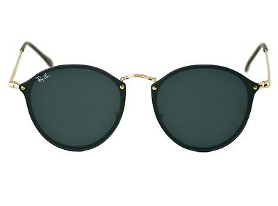 Ray-Ban RB3574N Blaze Round 001/71 Gold Frame/Green Classic Lenses Unisex 59mm