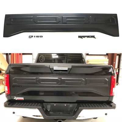 For 2017 Ford F 150 Tailgate Lique Rear Panel Trim Raptor Style Modeling
