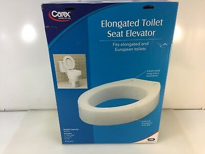 Carex B30600 Toilet Seat Elevator Elongated Toilet Seat Elevator