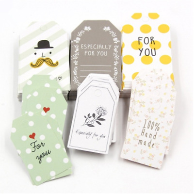 50Pcs 2Size Paper Tags With String Wedding Party Supplies Hang Tag Craft Gift